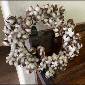 Large Cotton Stem Wreath